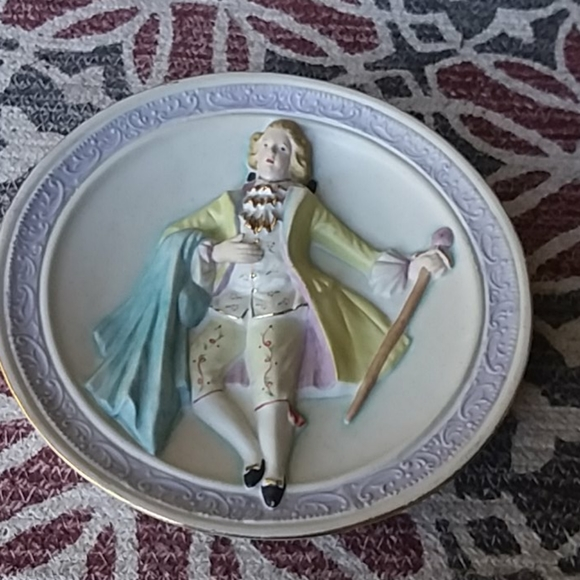 unknown Other - Vintage Bisque Wall Plaque